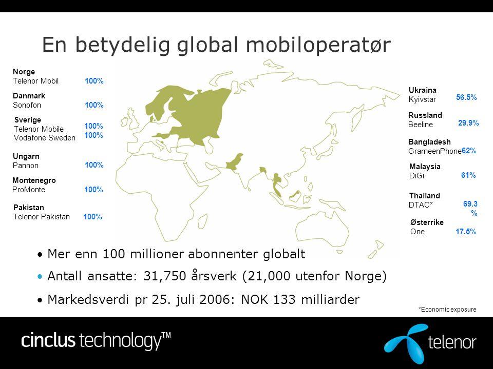 En betydelig global mobiloperatør