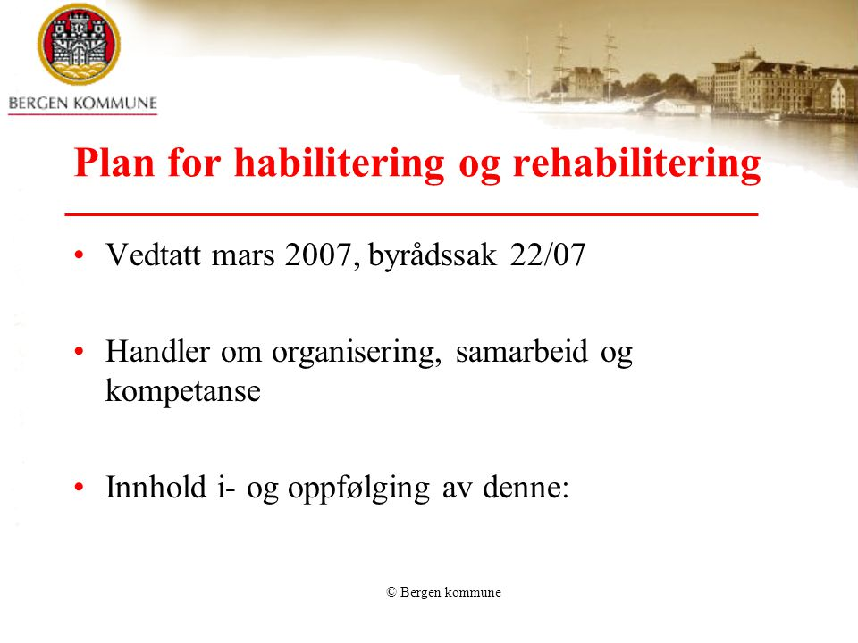 Plan for habilitering og rehabilitering