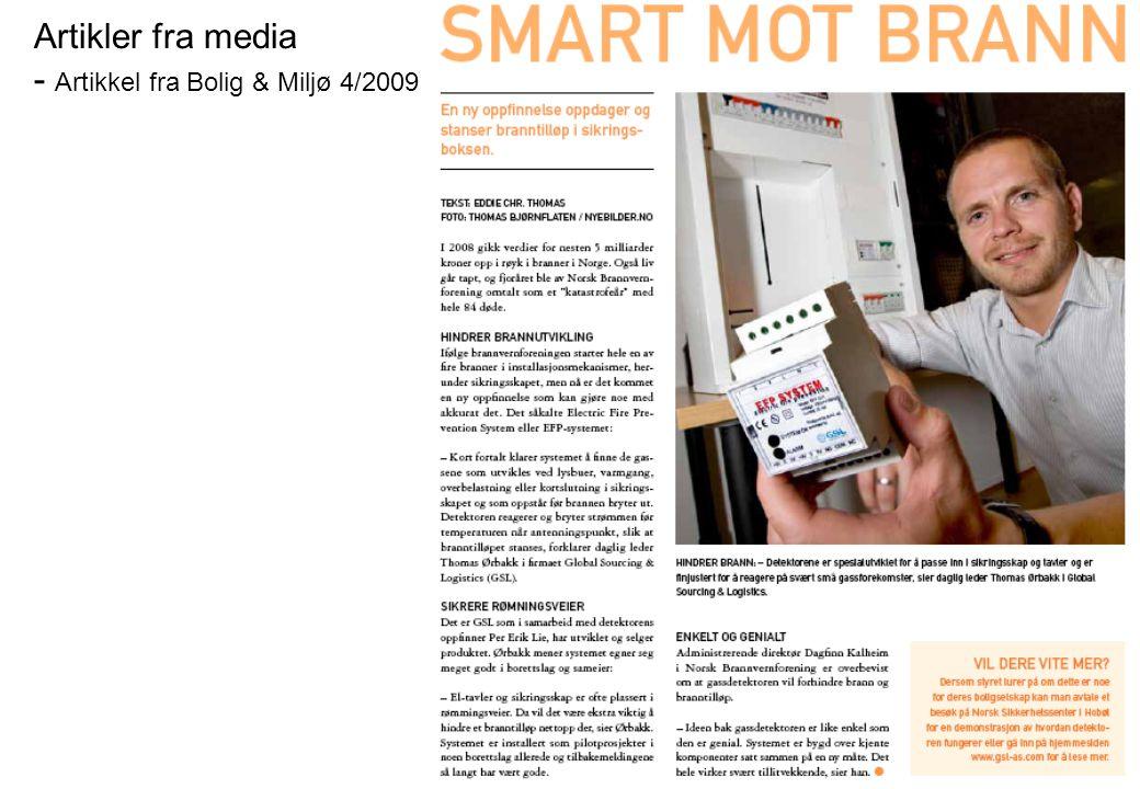 Artikler fra media - Artikkel fra Bolig & Miljø 4/2009
