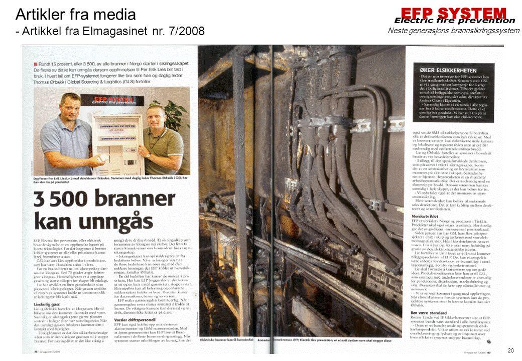 Artikler fra media - Artikkel fra Elmagasinet nr. 7/2008