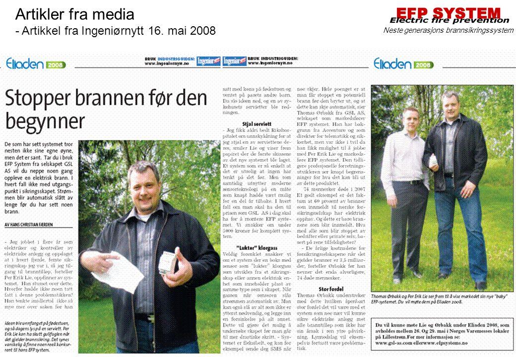Artikler fra media - Artikkel fra Ingeniørnytt 16. mai 2008