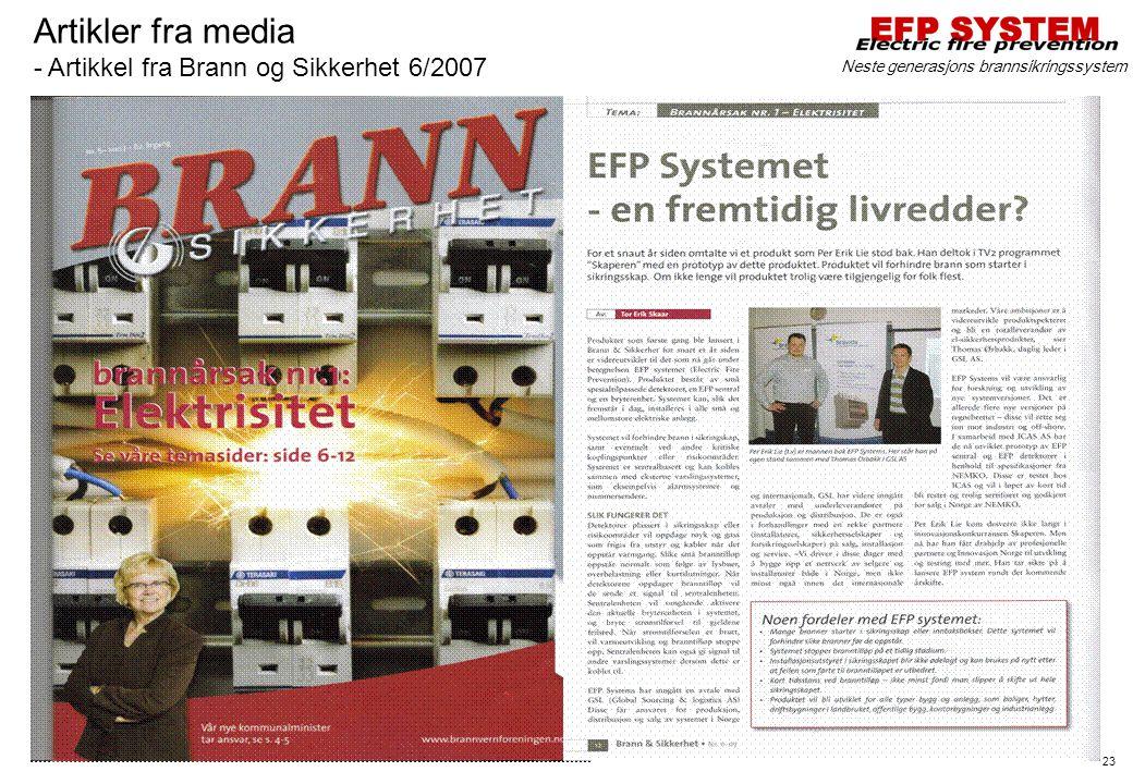 Artikler fra media - Artikkel fra Brann og Sikkerhet 6/2007