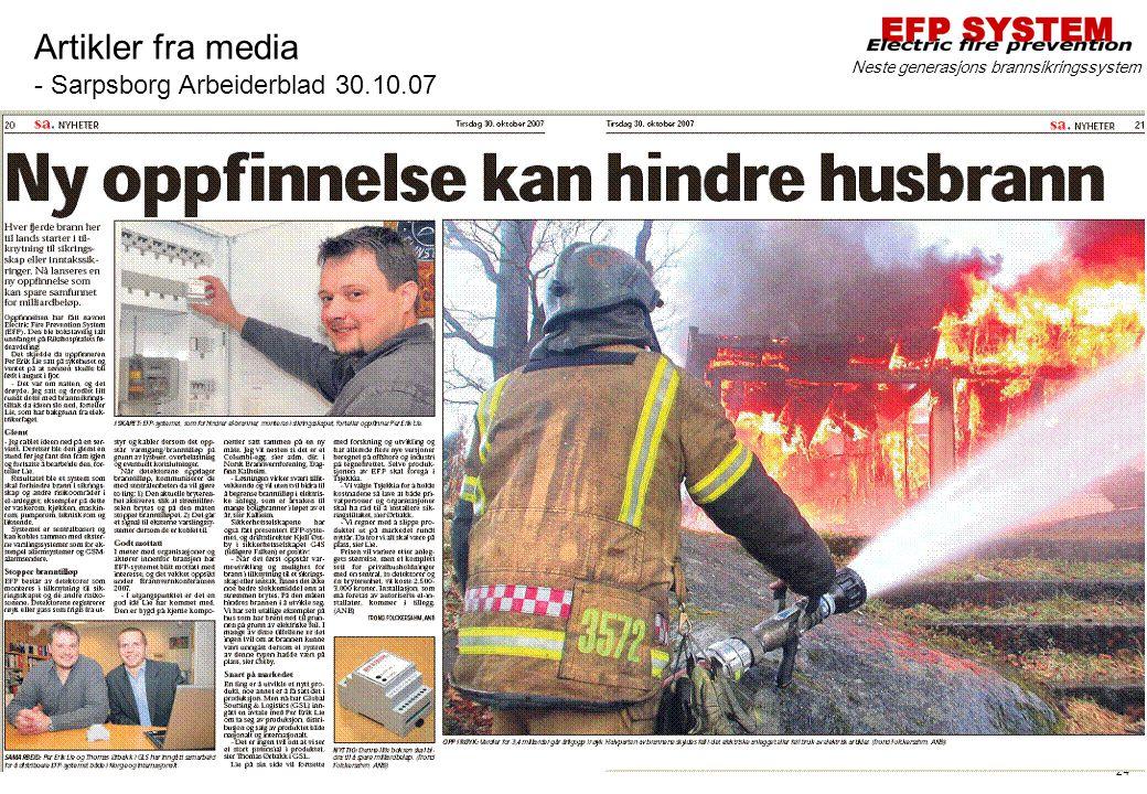 Artikler fra media - Sarpsborg Arbeiderblad 30.10.07