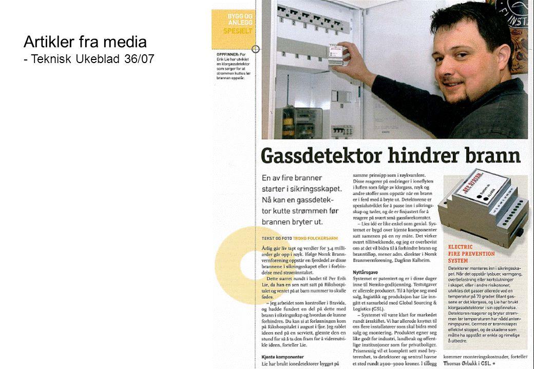 Artikler fra media - Teknisk Ukeblad 36/07