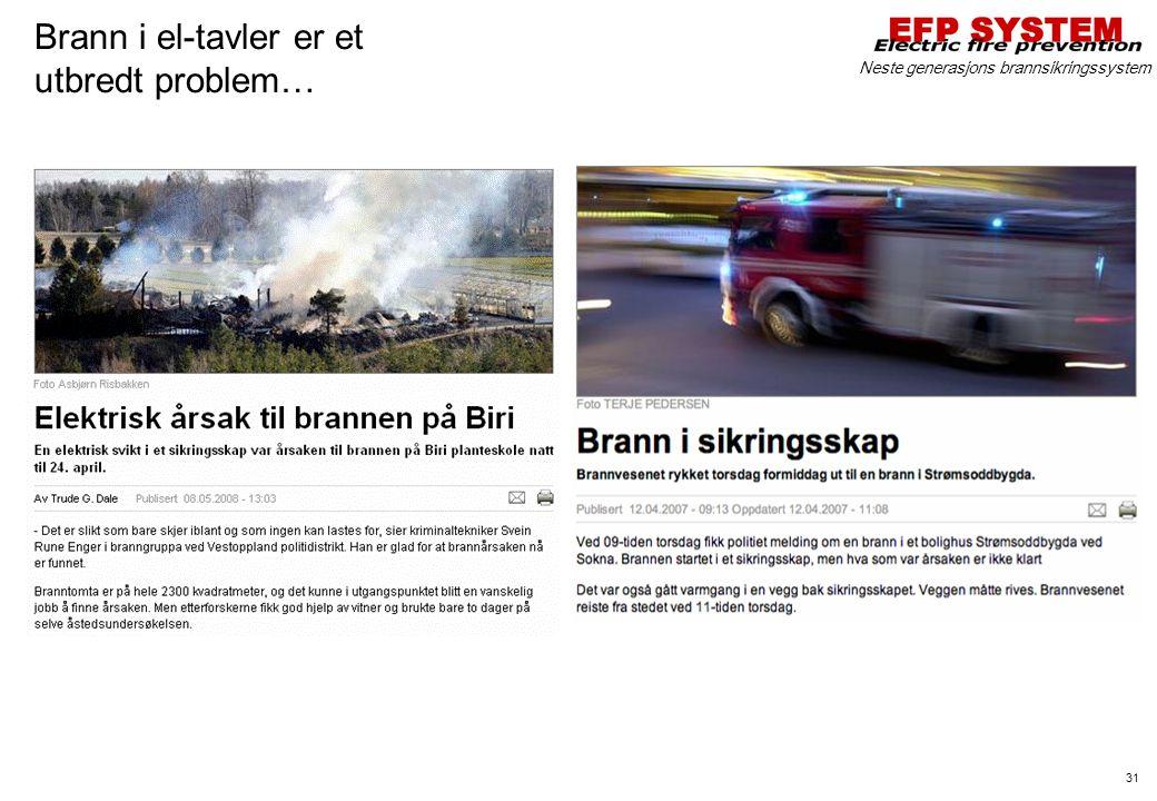 Brann i el-tavler er et utbredt problem…