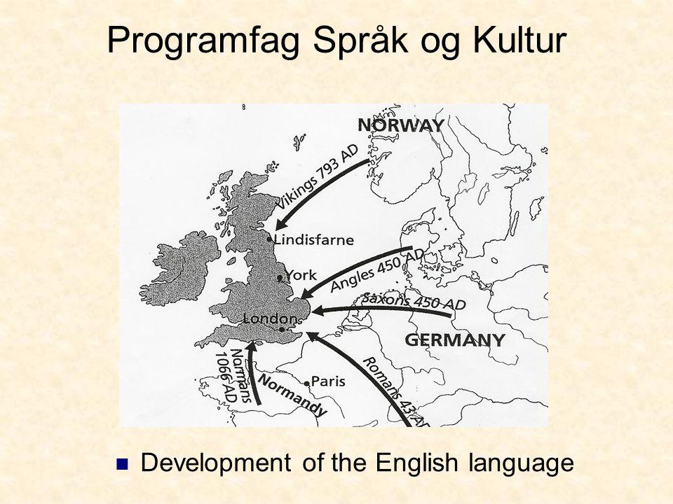 Programfag Språk og Kultur