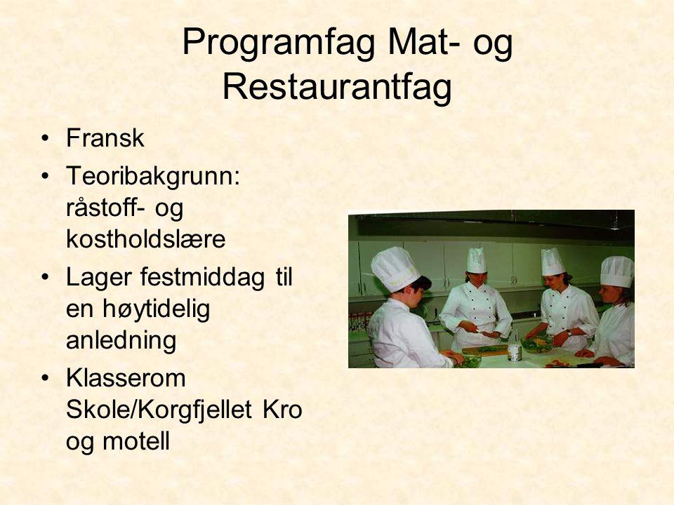 Programfag Mat- og Restaurantfag