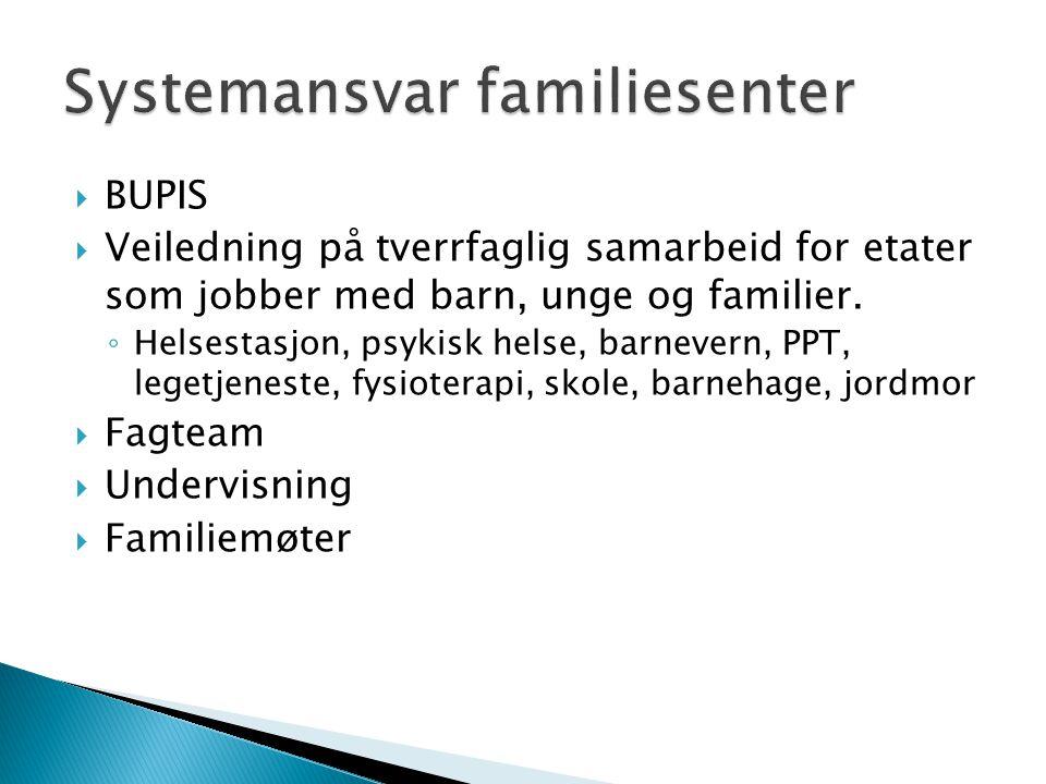 Systemansvar familiesenter