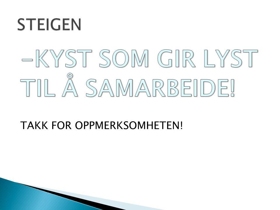 STEIGEN -KYST SOM GIR LYST TIL Å SAMARBEIDE! TAKK FOR OPPMERKSOMHETEN!