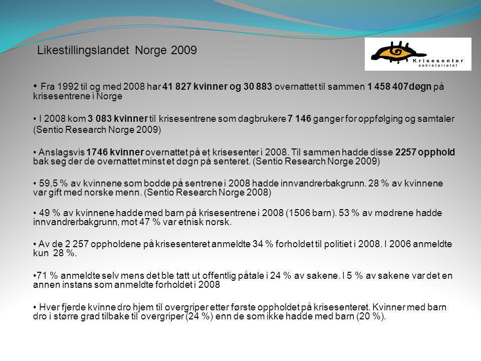 Likestillingslandet Norge 2009