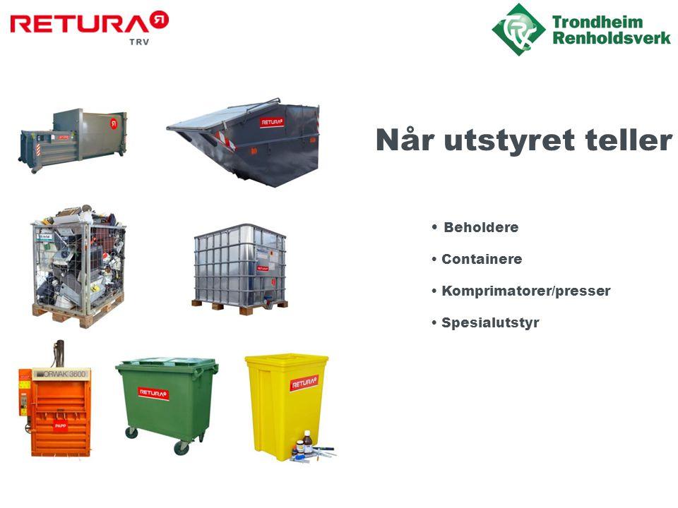 Når utstyret teller Beholdere Containere Komprimatorer/presser