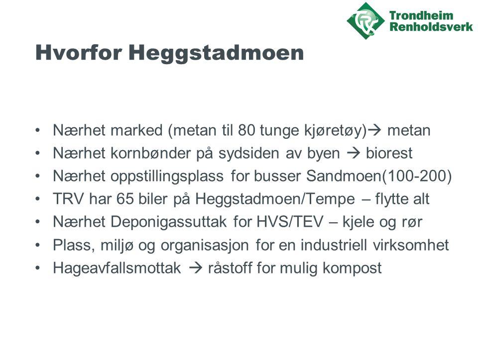 Hvorfor Heggstadmoen Nærhet marked (metan til 80 tunge kjøretøy) metan. Nærhet kornbønder på sydsiden av byen  biorest.