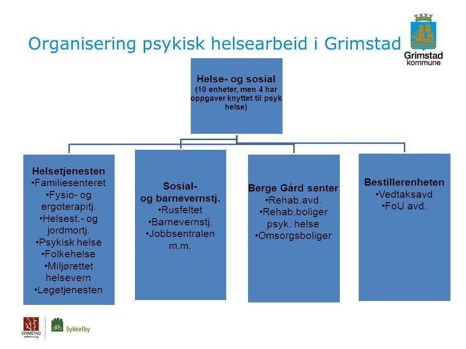 Organisering psykisk helsearbeid i Grimstad