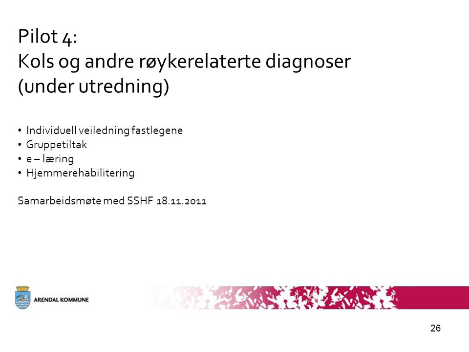 Kols og andre røykerelaterte diagnoser (under utredning)