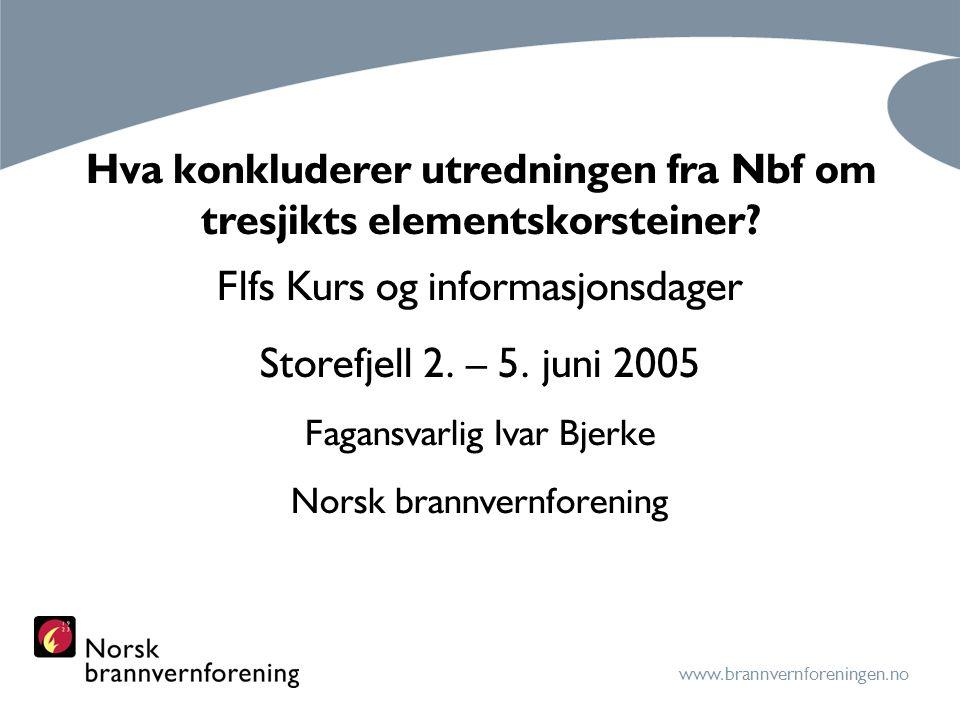 Hva konkluderer utredningen fra Nbf om tresjikts elementskorsteiner