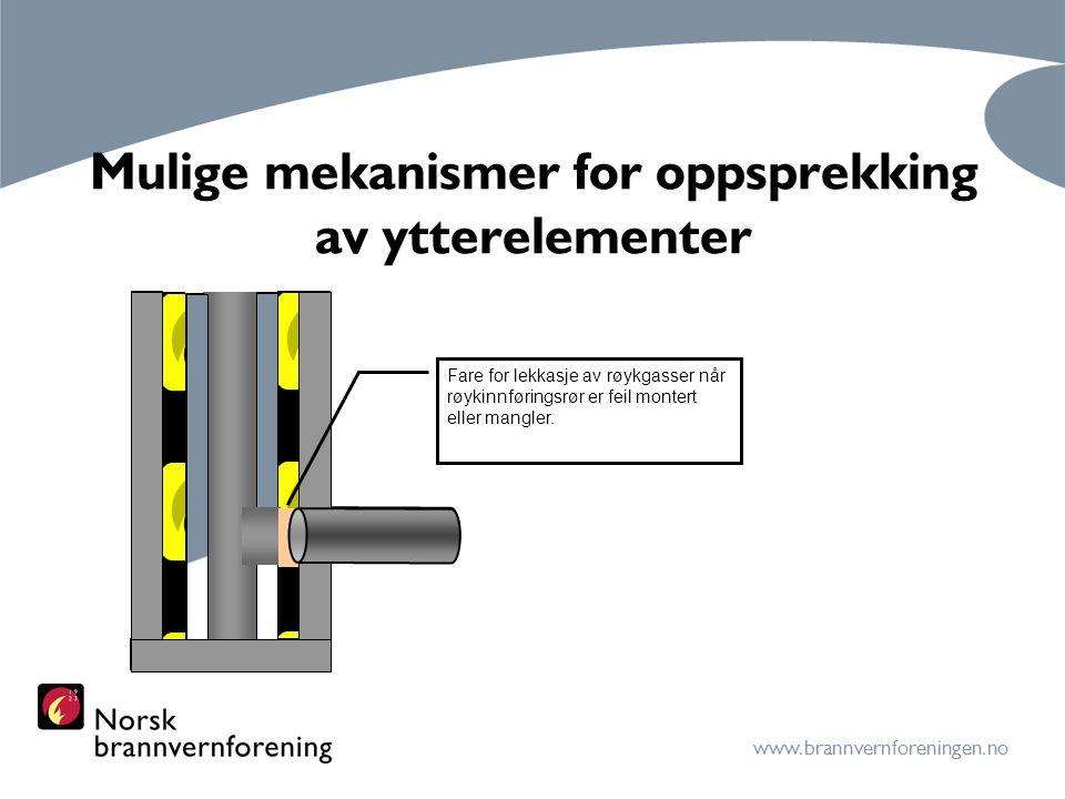 Mulige mekanismer for oppsprekking av ytterelementer