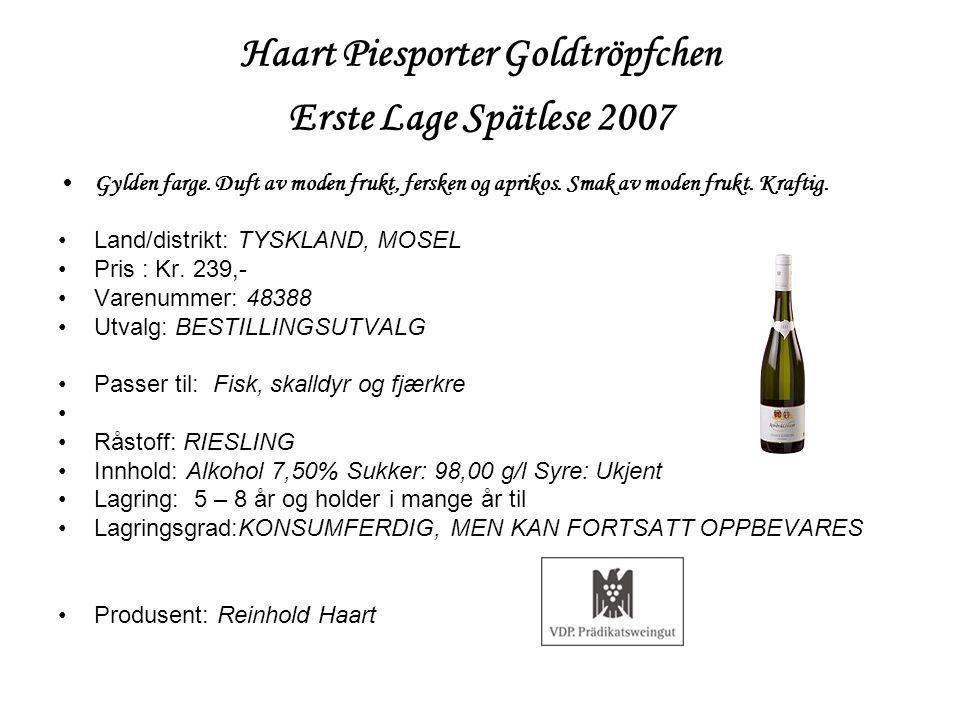 Haart Piesporter Goldtröpfchen Erste Lage Spätlese 2007