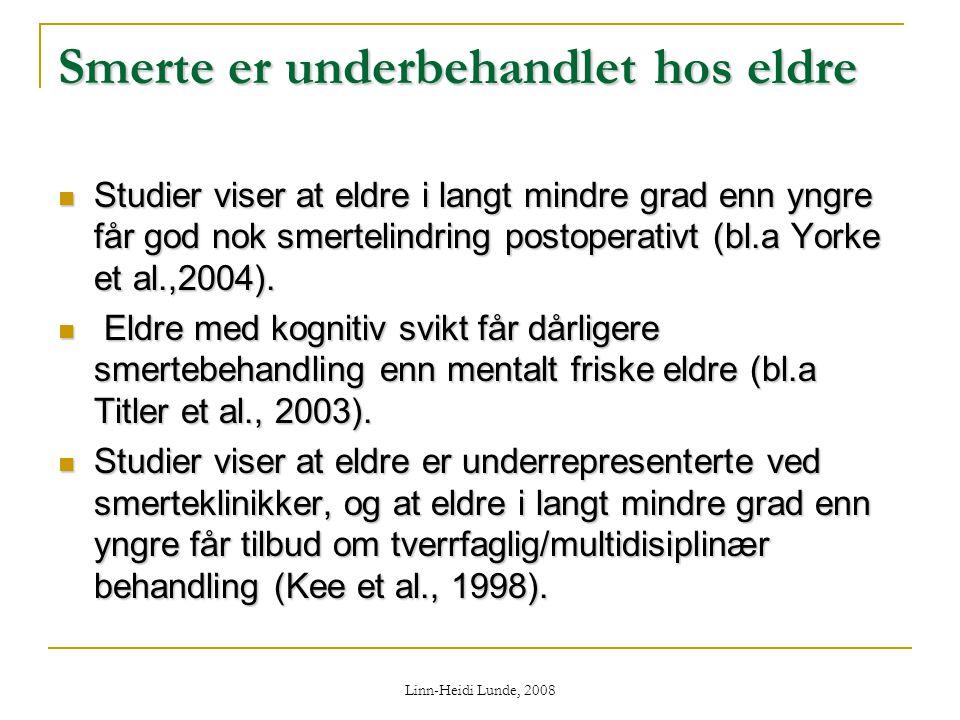 Smerte er underbehandlet hos eldre