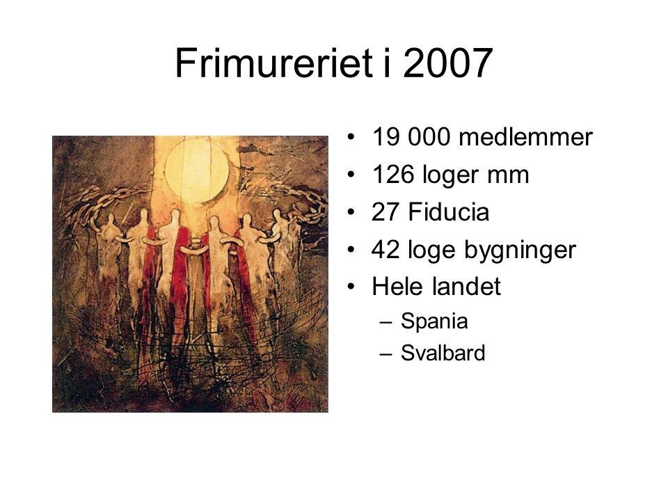 Frimureriet i 2007 19 000 medlemmer 126 loger mm 27 Fiducia