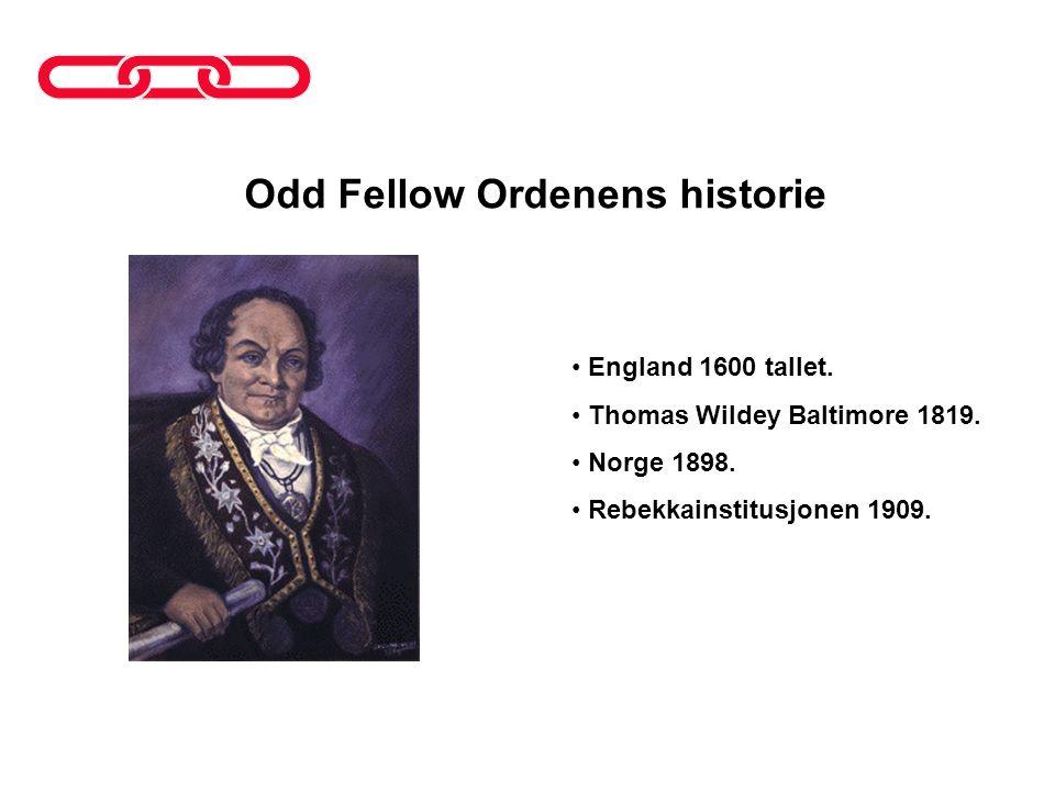 Odd Fellow Ordenens historie
