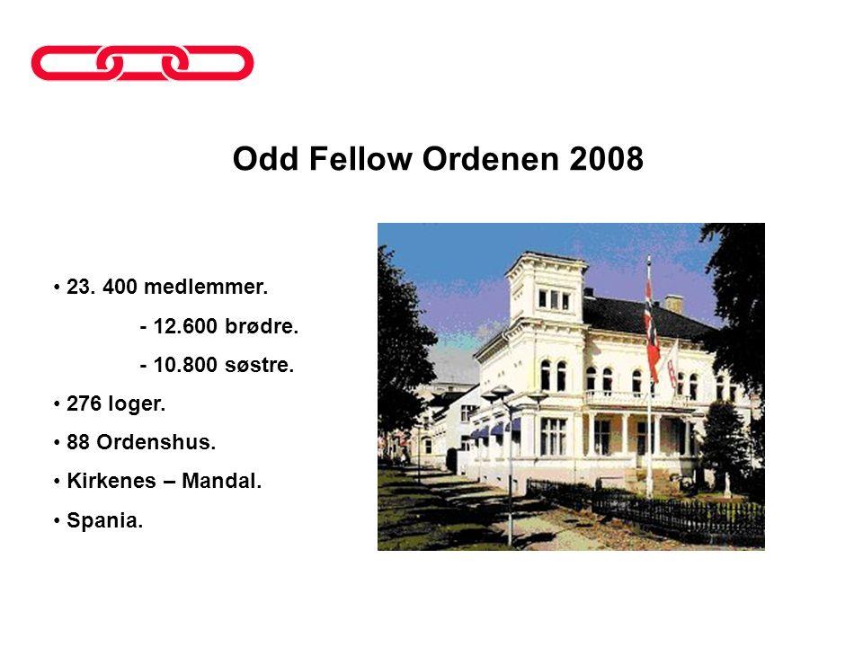 Odd Fellow Ordenen 2008 23. 400 medlemmer. - 12.600 brødre.