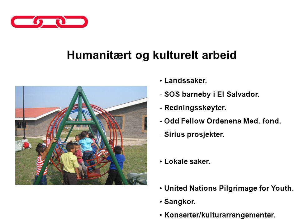 Humanitært og kulturelt arbeid