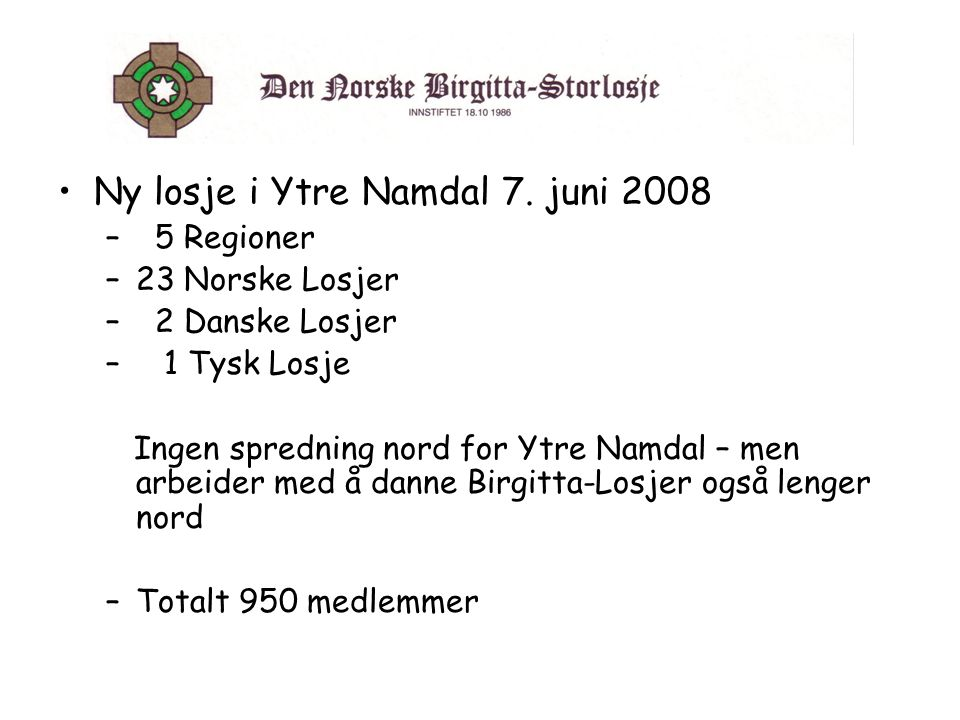 Ny losje i Ytre Namdal 7. juni 2008