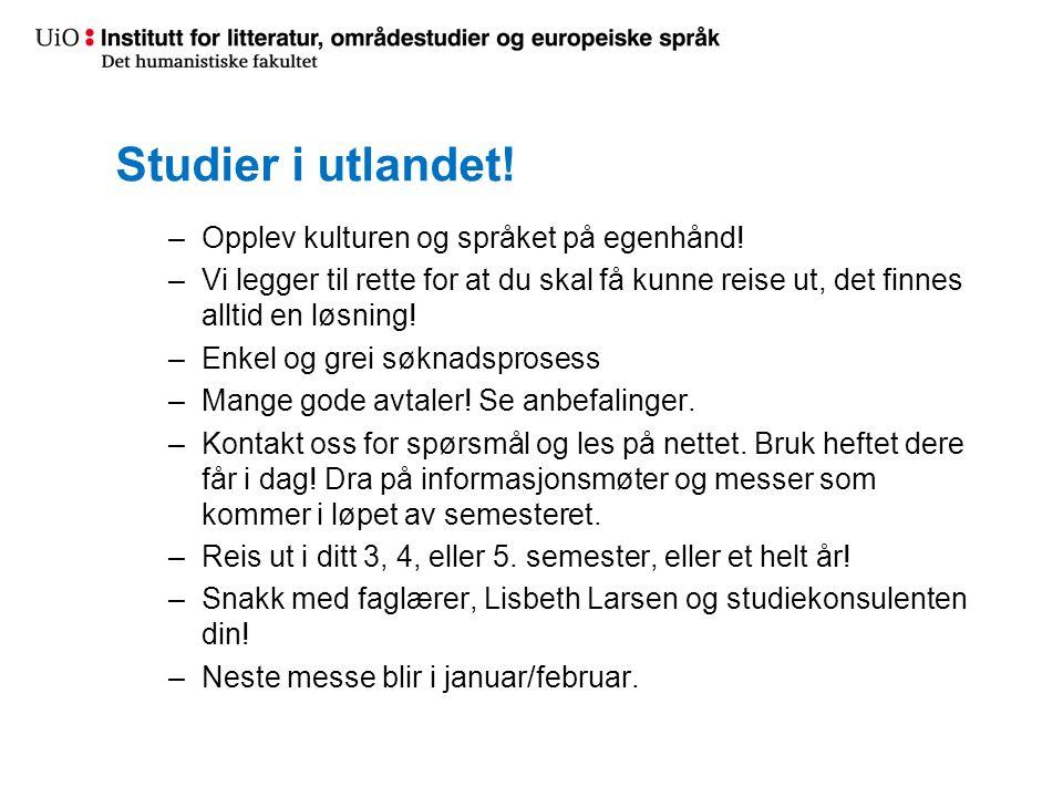 Studier i utlandet! Opplev kulturen og språket på egenhånd!