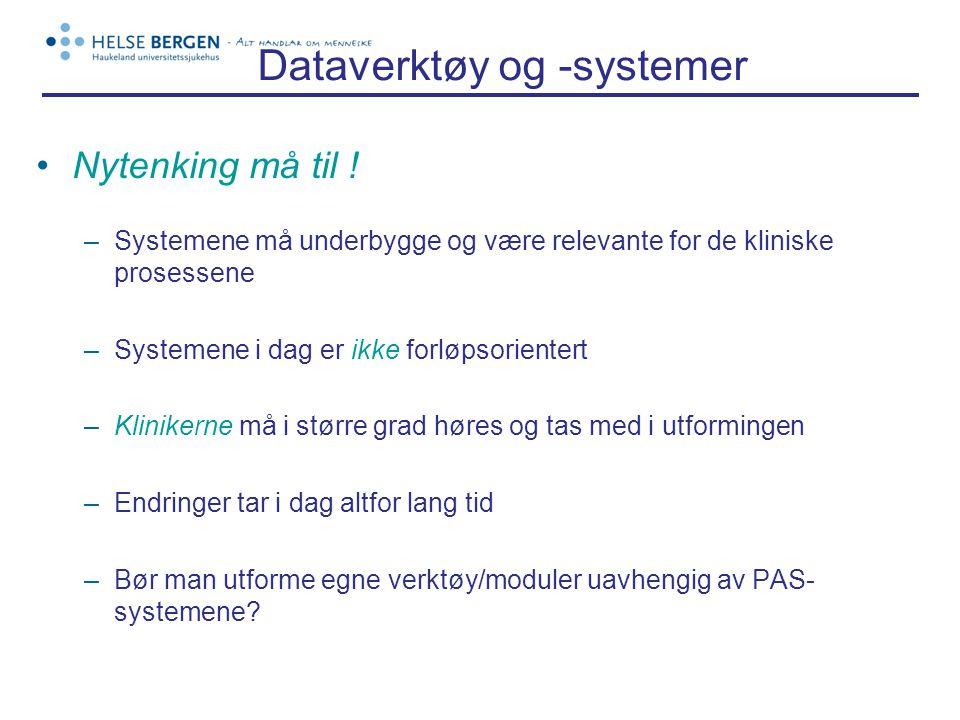 Dataverktøy og -systemer