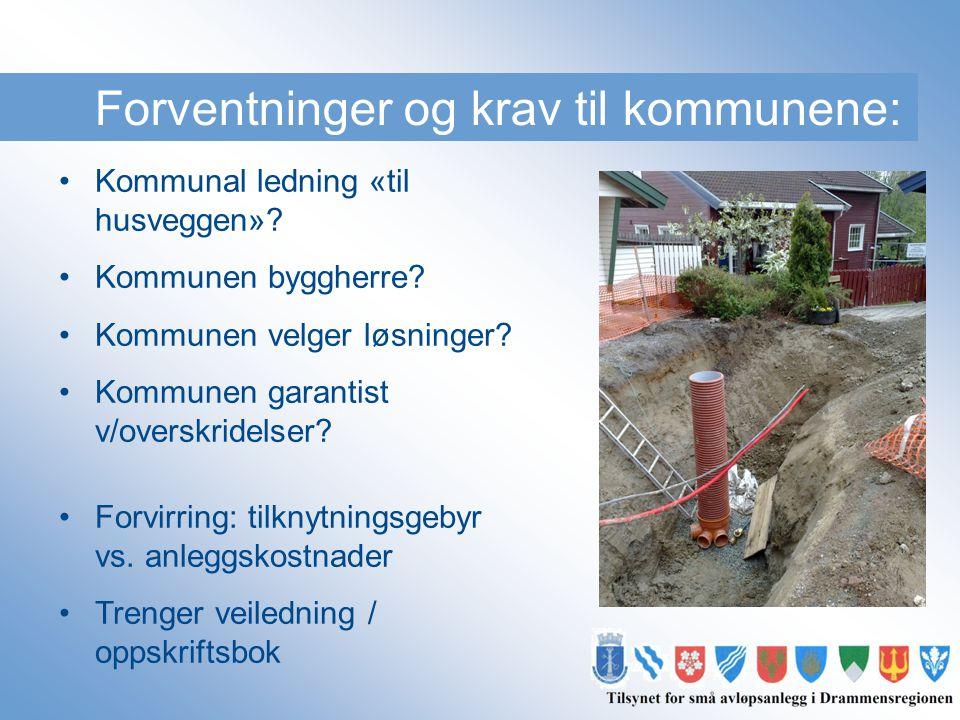 Forventninger og krav til kommunene: