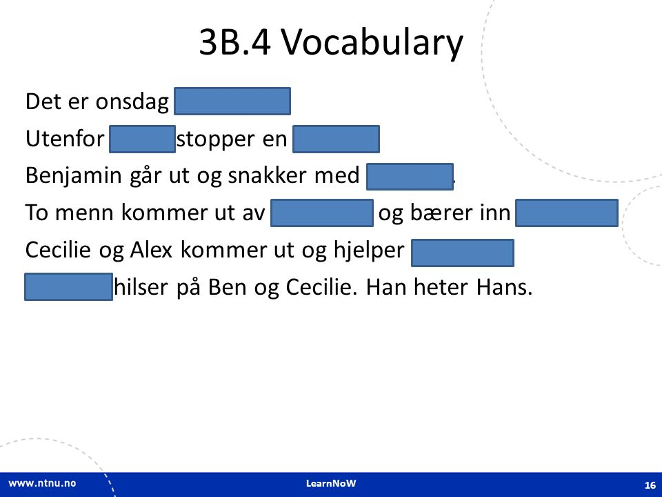 3B.4 Vocabulary