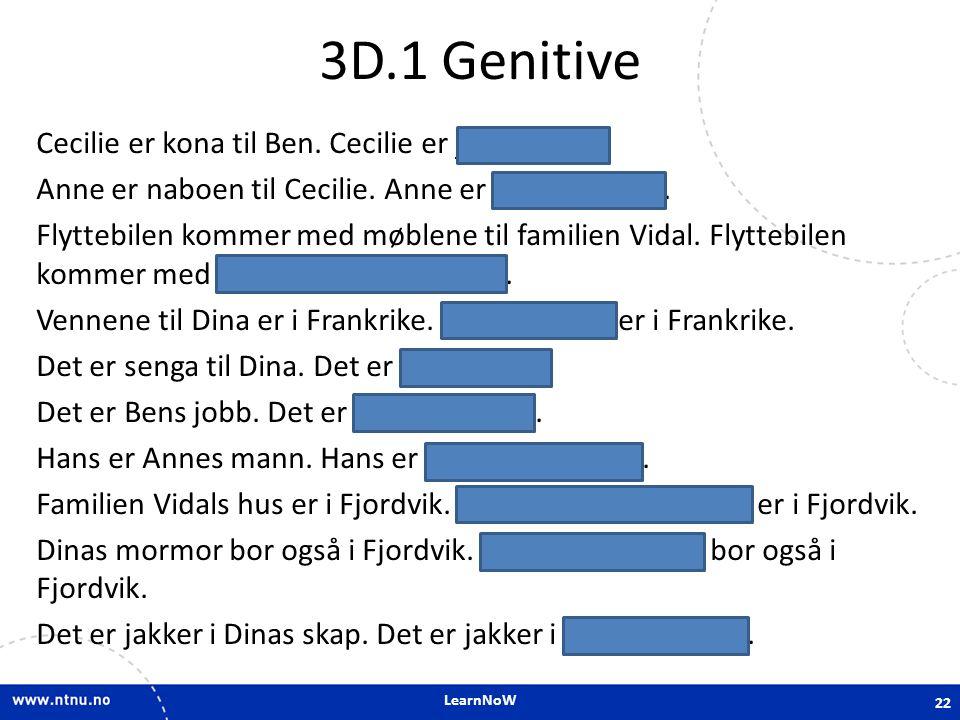 3D.1 Genitive