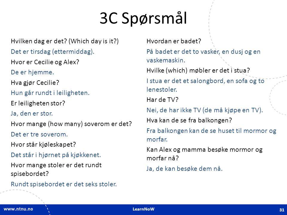 3C Spørsmål
