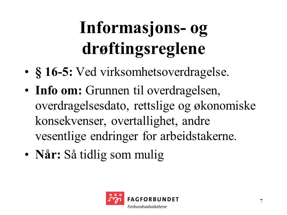 Informasjons- og drøftingsreglene