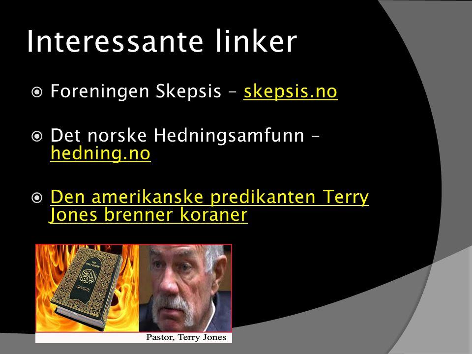Interessante linker Foreningen Skepsis – skepsis.no