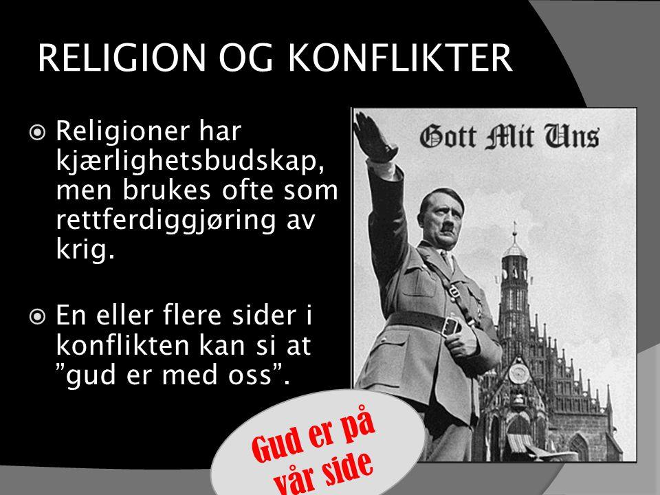 RELIGION OG KONFLIKTER