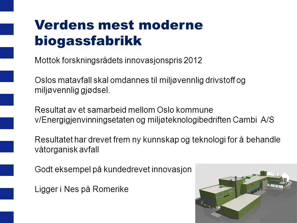 Verdens mest moderne biogassfabrikk