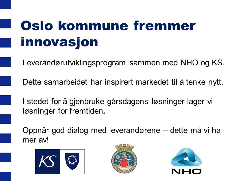 Oslo kommune fremmer innovasjon