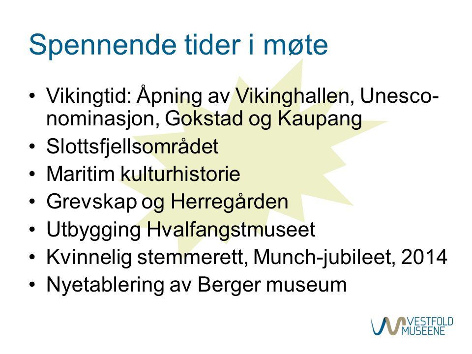Spennende tider i møte Vikingtid: Åpning av Vikinghallen, Unesco-nominasjon, Gokstad og Kaupang. Slottsfjellsområdet.