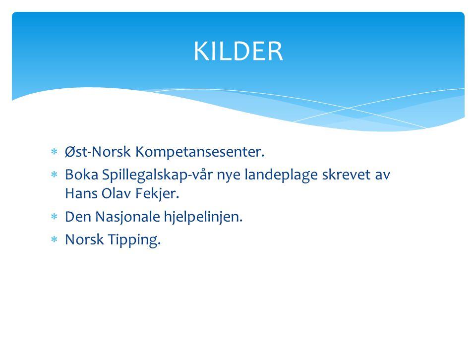 KILDER Øst-Norsk Kompetansesenter.