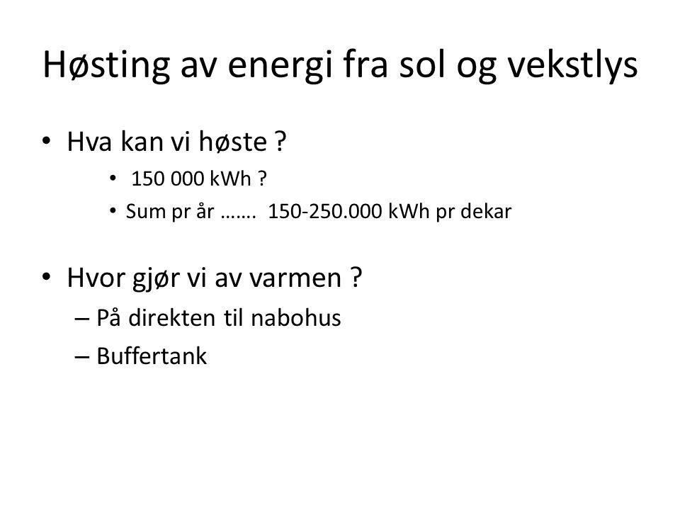Høsting av energi fra sol og vekstlys