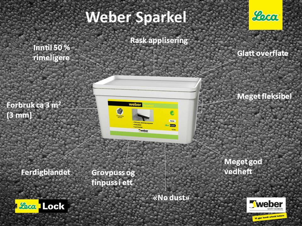 Weber Sparkel Rask applisering Inntil 50 % rimeligere Glatt overflate
