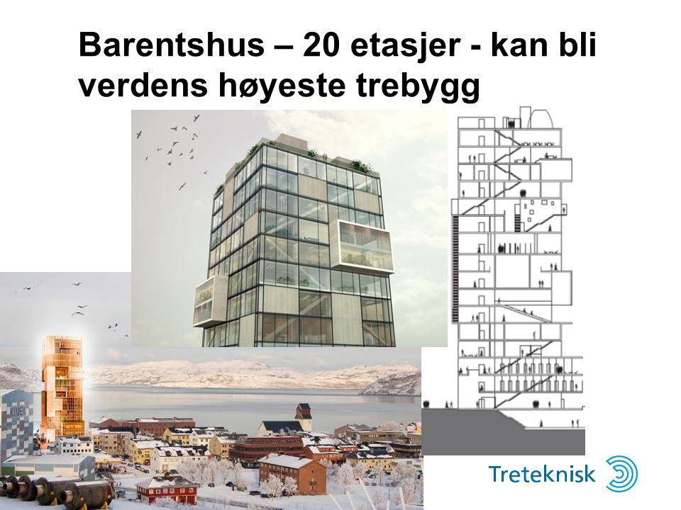 Barentshus – 20 etasjer - kan bli verdens høyeste trebygg
