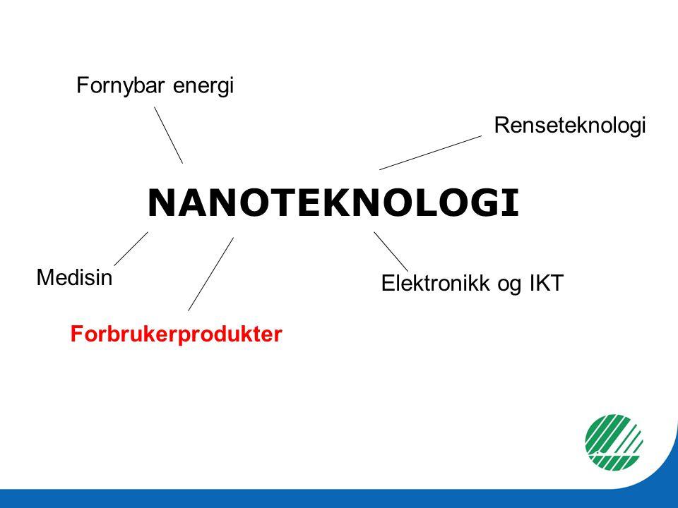 NANOTEKNOLOGI Fornybar energi Renseteknologi Medisin