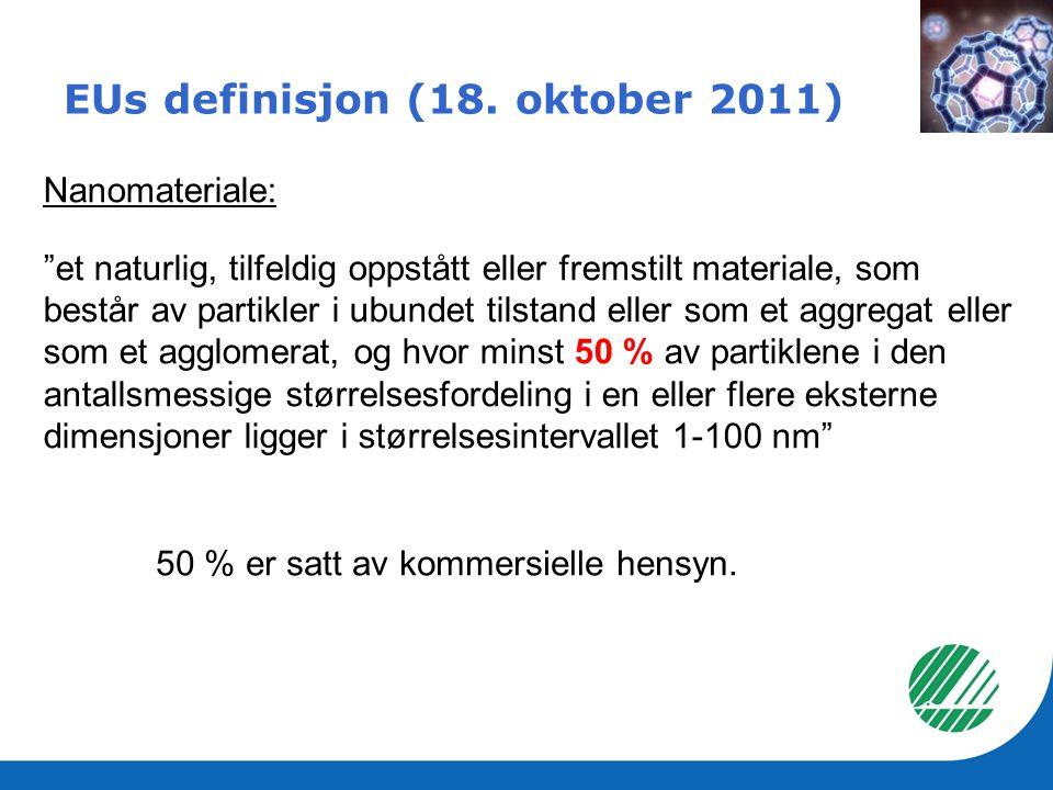 EUs definisjon (18. oktober 2011)