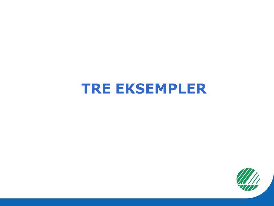 TRE EKSEMPLER
