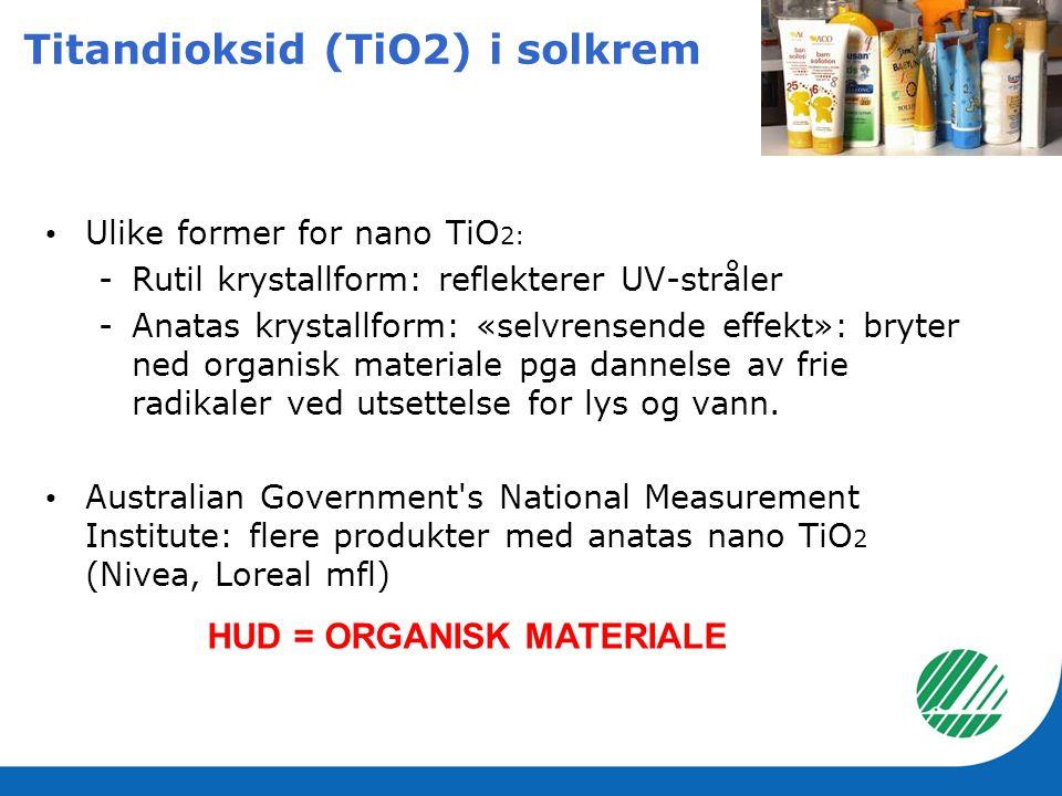 Titandioksid (TiO2) i solkrem