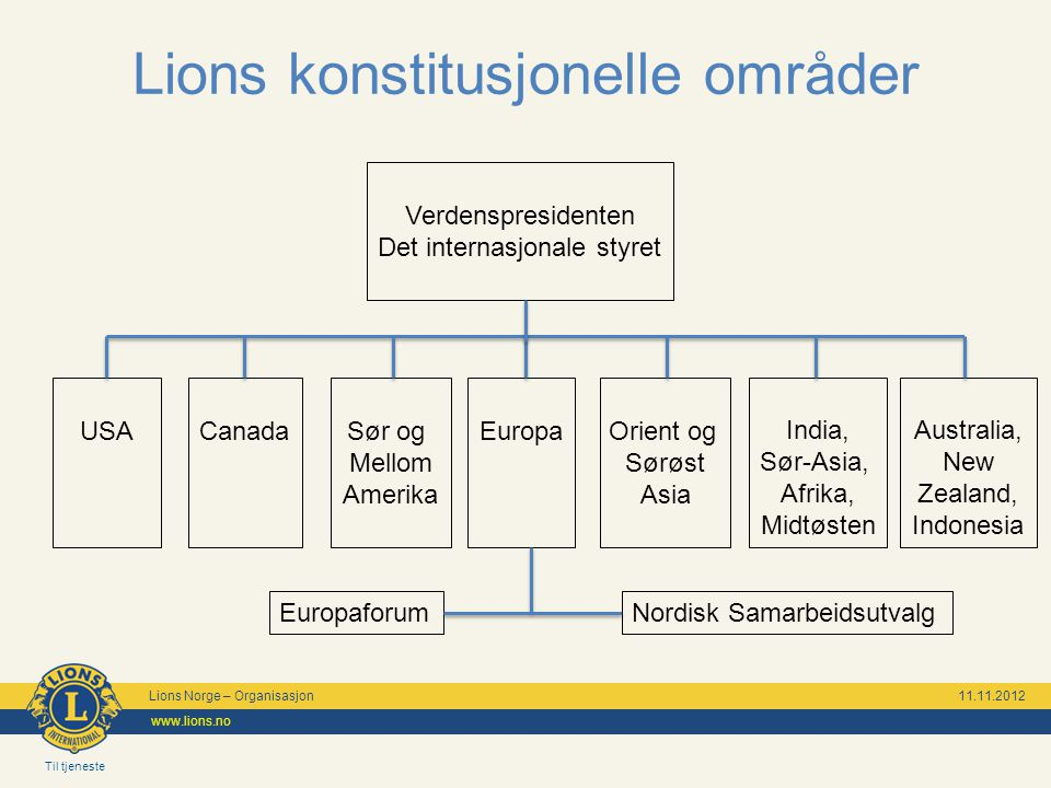 Lions konstitusjonelle områder