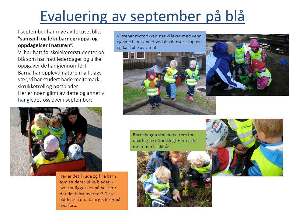 Evaluering av september på blå