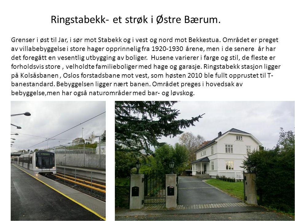 Ringstabekk- et strøk i Østre Bærum.